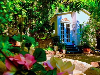Photo for NEW: ROMANTIC HOLLYWOOD HILLS GUESTHOUSE + VIEWS / GARDEN