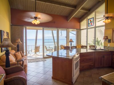 Photo for Private 2 Bedroom Ocean Front Condo, 20 feet from the Ocean