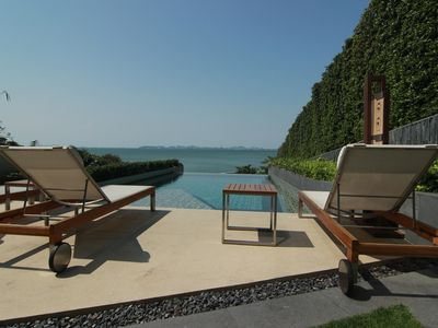 Photo for Private beach, stunning pool, tranquil Pattaya