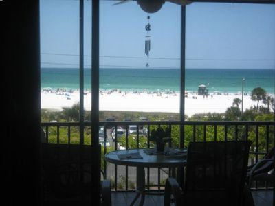 View of Siesta Key Beach and the 4th Floor Balcony