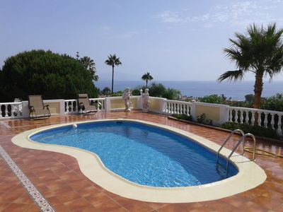 Photo for Fantastic modern villa with beautiful panoramic views across the Mediterranean..