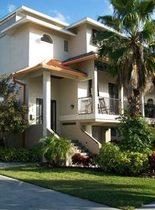 Front view of 4 story, 3500 sq. ft. beach house