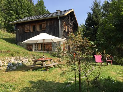 Photo for Savoyard chalet with beautiful view, close to Chamonix valley, ski at 3 km