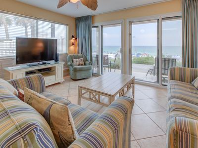 Photo for Beautiful Gulf front Condo w/ Patio w/ Outdoor Shower, Beach Equipment