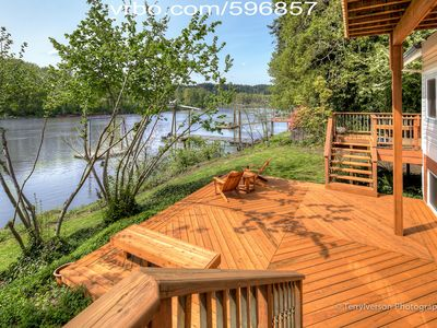 Photo for Willamette Riverfront Chateau - Ground Floor 3BR/2BA Suite on the Water