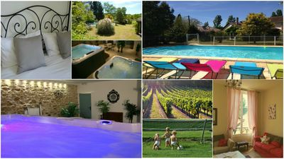 Photo for Sleeps 14. Swimspa, jacuzzi, HEATED pool, vineyard views, Wifi, baby-friendly!