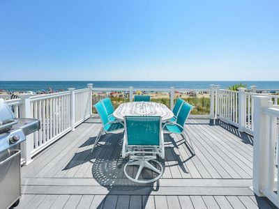 Photo for Gorgeous oceanfront with 5 bedrooms & 5 1/2 baths in desirable North Ocean City!