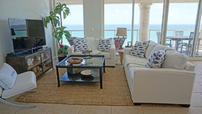 Photo for Enjoy Stunning Sunsets at this Romantic Beach Front Condo with Free Beach Chairs