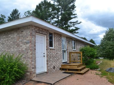 Photo for Northwoods Cabin on Lake Minocqua- Sandy Beach & Close To Downtown!