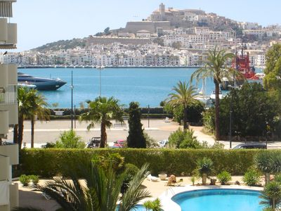 Photo for Modern Luxury Apartment with Great View and Large Pool on New Marina of Ibiza