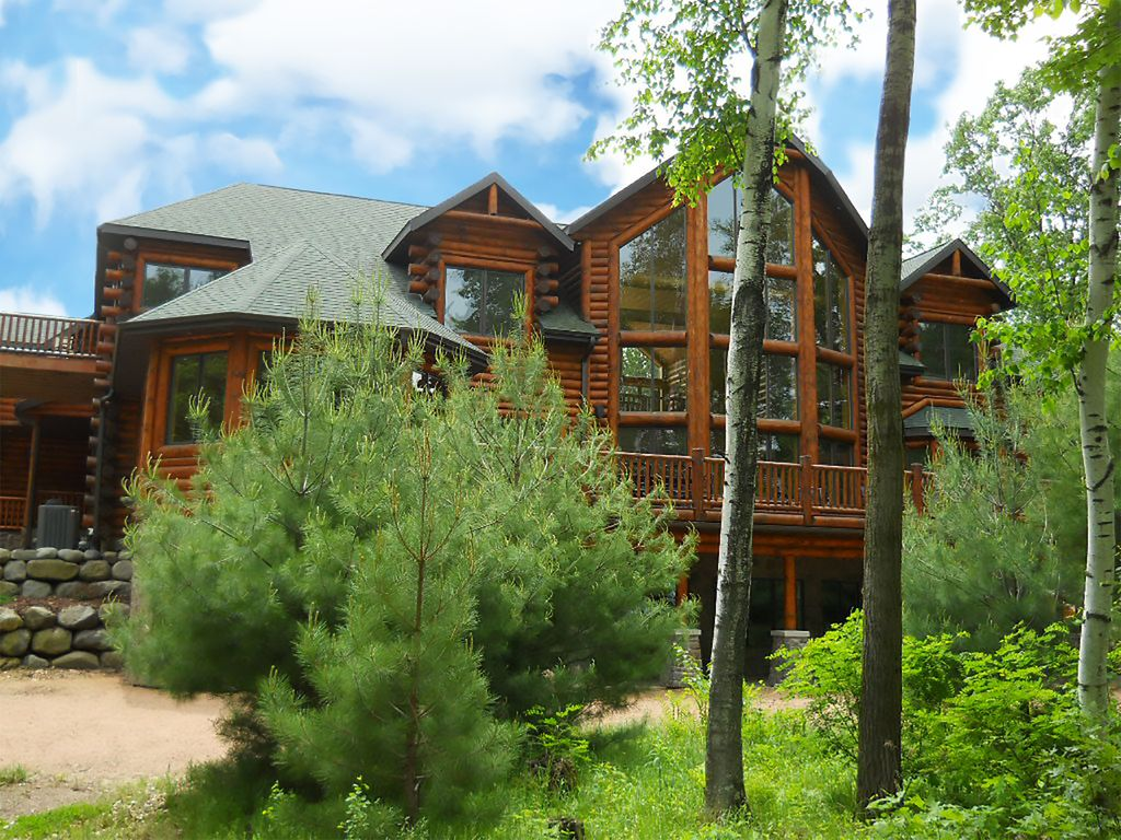 log cabins rent cabin pointe resort to red dells wisconsin island sale for in