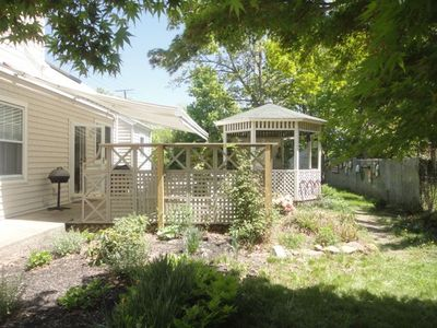 Photo for Historic 1830 Captain's home garden wing, huge private garden, walk to all!