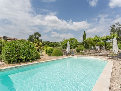Photo for Very charming old farmhouse (11 ppl.):heated swimming pool, beautiful park