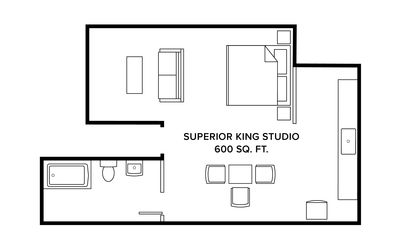 Photo for THE INN Downtown - Superior King Studio