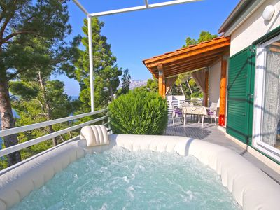 Photo for Brela beach house with hot tube and sea view in very quite part of Brela .......