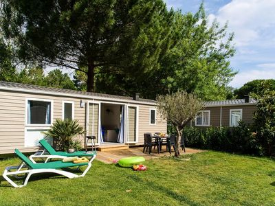 Photo for Camping La Sirène ***** - Mobil Home Sirène2 3 Rooms 6 people including 4 Adults maximum, baby included