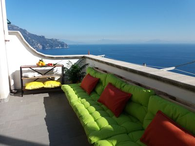 Photo for Sun-Soaked Private View Terrace! Most Affordable in Amalfi!  BOOK now!