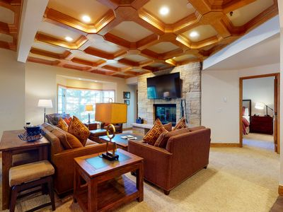 Photo for Roomy ski-in/ski-out condo w/ Strawberry Park views & shared pool and hot tubs!