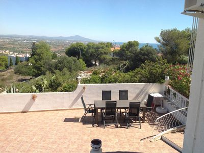 Photo for Detached villa with great panoramic views, large terrace, WiFi, air conditioning, parking