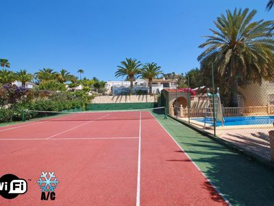 Photo for Tennis Janka Villa with swimming pool and private tennis court, A/C, parking