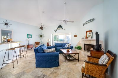 open concept living room to enjoy family time