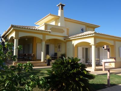 Photo for Detached, private villa with pool in spacious gardens, WIFI, AC