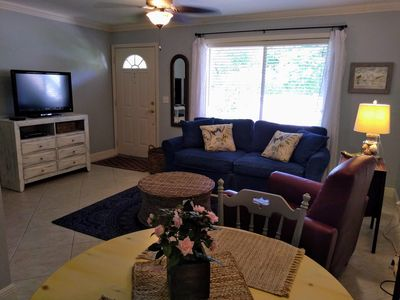 Enjoy your stay in the spacious living area.