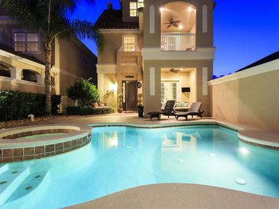 Photo for Pool Villa with 2 Game Rooms, 10 TVs throughout home & 3 Stories of Balconies