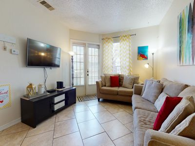 Photo for NEW LISTING! Beautiful, dog-friendly condo w/ a shared pool - close to the beach