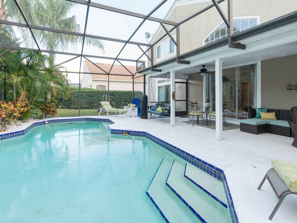 Luxury home heated pool 3d movie room near disney - Florida condo swimming pool rules ...