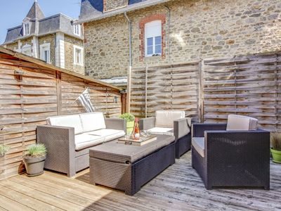 Photo for Apartment in the center of Dinard with Internet, Terrace, Washing machine (971070)