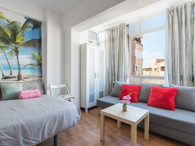 Photo for Air-Conditioned Studio Apartment in Fantastic Location on the Beach with Wi-Fi