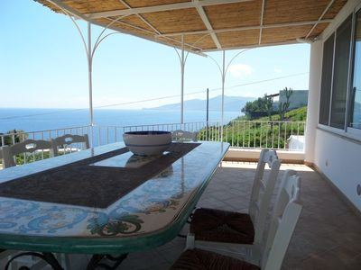 Photo for Villa Dalma - Capo Faro, excellent view of the sea and the Malvasia vineyards
