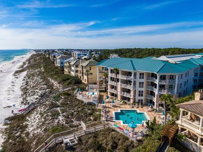Photo for 30A- Ground floor condo, Pool directly outside back door! Steps from Beach!