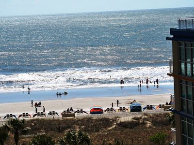 Photo for Ocean Front Family Resort 2 BR/2 BA Updated Ocean View Condo LINENS INCLUDED