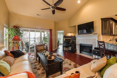 Open floor plan living - with smart tv and endless cable choices