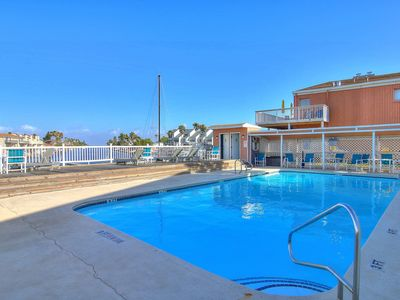 Photo for NEW! Well-furnished, waterfront studio w/ pools! Great for couples! 1 dog ok!