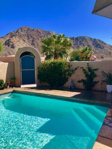 Photo for Private courtyard with fountain and walking distance from hiking trails.
