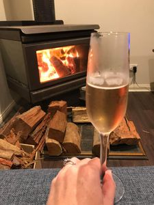 Champagne by the fire? Don't mind if I do!