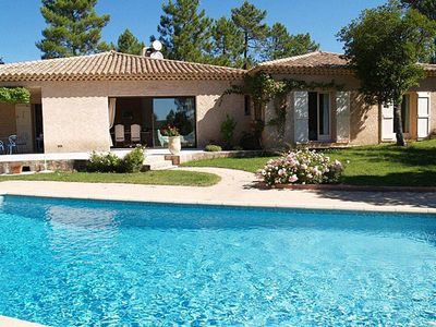 Photo for This spacious and well equipped villa is air conditioned throughout and from its peaceful woodland s