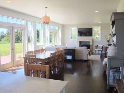 Photo for Relaxing Getaway | Custom Farm style House on Ebey Reserve, Ocean &Mountain View