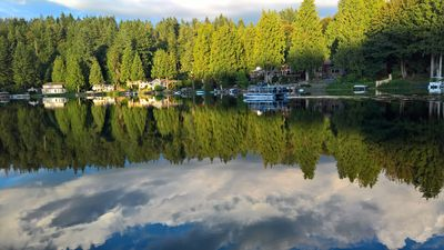 Photo for Serene private lakefront apartment in Redmond with full kitchen/bath/w/d