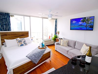 Photo for Modern Unit in Heart of Waikiki with FREE PARKING!