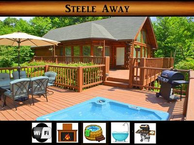 Photo for Steele Away} Paved Driveway/level parking\ Hot Tub \ Jacuzzi\ Fireplace\ WiFi