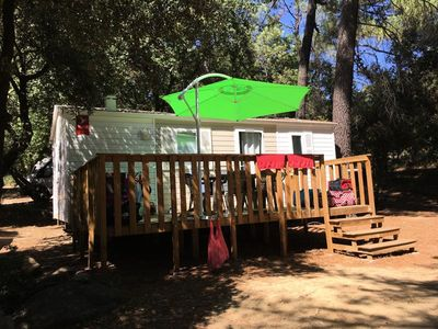 Photo for Camping La Simioune *** - Air-conditioned mobile home 4 rooms 6 persons
