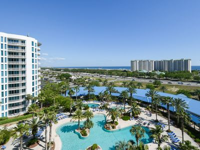 Photo for PRIVATE BALCONY overlooking community POOL! OPEN CONCEPT condo w/NEARBY BEACHES!