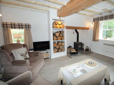 Relax by the cosy log burner