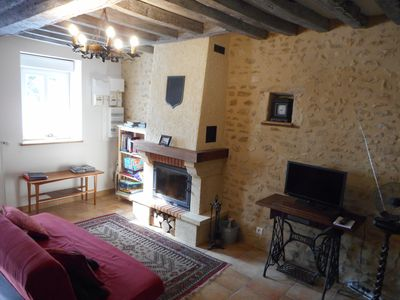 Photo for Charming longere gite, fully equipped, 2 en suite bedrooms + heated pool WiFi