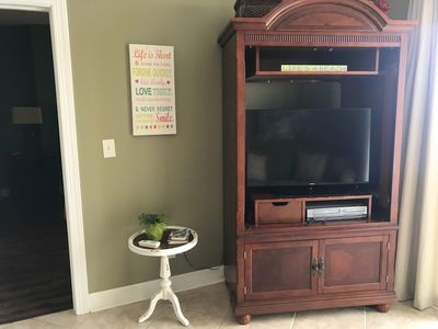 Flat panel TV located in the living area