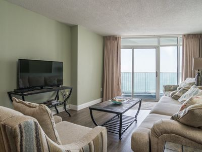 Photo for Comfortably furnished condo overlooking the Arcadian Shores area. | Sea Watch  North - 1204